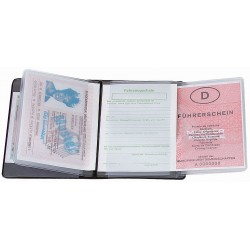 "CreativDesign Driving licence wallet ""5-fold""  Star czarny"