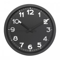 Wall clock REFLECTS-REDDITCH BLACK