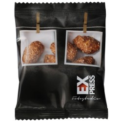 Roasted Almonds in Advertising Bags