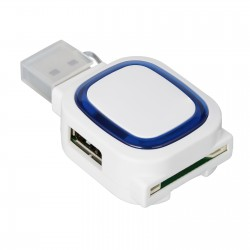2-port USB hub and card reader REFLECTS-COLLECTION 500
