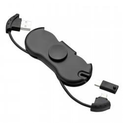 Fidget Spinner z kablem ładującym 3 w 1 REFLECTS-MOLFETTA