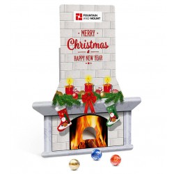 "Kalendarz adwentowy kominek Lindt Lindor / Lindt Lindor Advent Dispenser ""Chimney"""