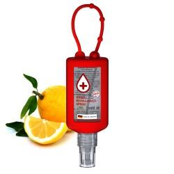 Środek do mycia rąk w sprayu, 50 ml Bumper (czerwony), Etykieta przeźroczysta