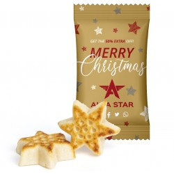 Gwiazda z marcepanu /  Marzipan Star in Advertising Bag