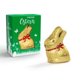 Złoty wielkanocny zajączek Lindt / Lindt Mini Gold Bunny in personalized carton