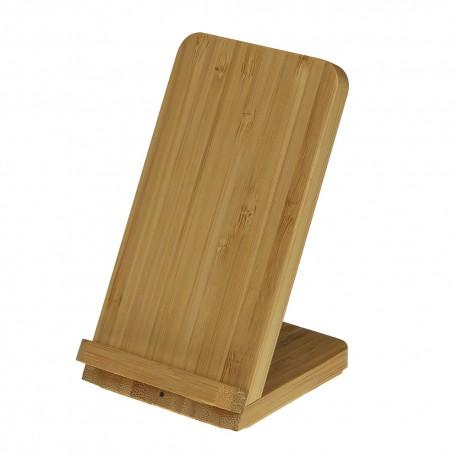 Stojak z ładowarką indukcyjną EasyCharge Bamboo Desk