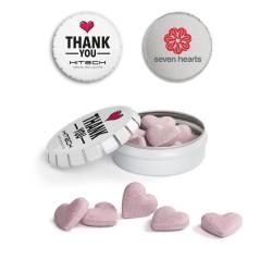 Musujące cukierki Serduszka / Candy Sweethearts in Mini Clic Clac Box