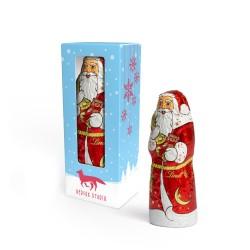 Czekoladowy Święty Mikołaj Lindt / Lindt chocolate Santa Claus in Promotion Box